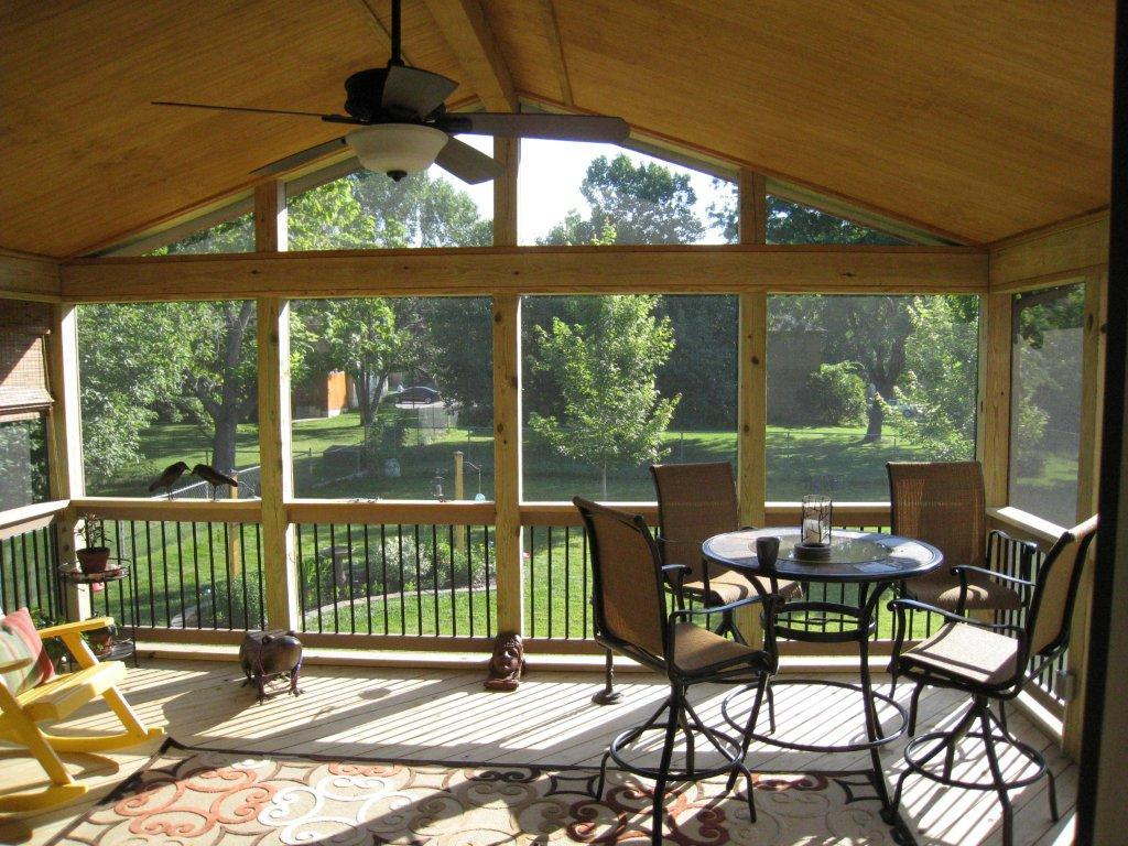 Olathe ks porches sunrooms and decks - Screen porch roof set ...