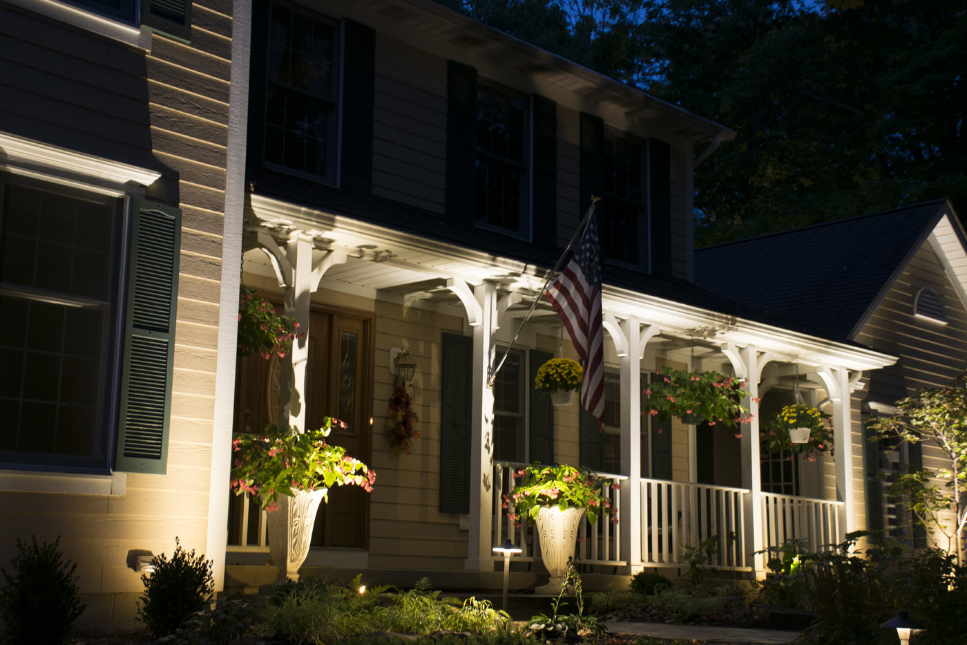 Charming Port Clinton Front Porch Lighting