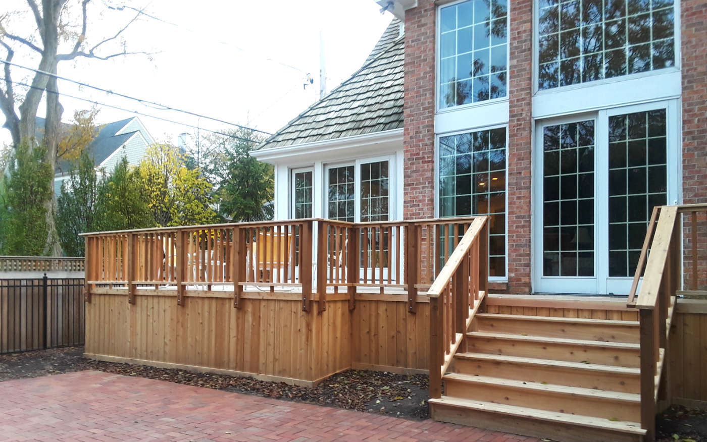 Spacious Wood Deck by Western Springs, IL Deck Builder Thumbnail