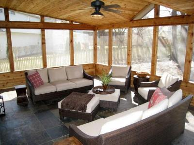 Enclosing A Porch For Living Space Leawood Ks Porches Sunrooms And Decks