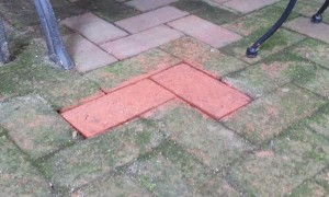 Pressure Washing Brick Patio