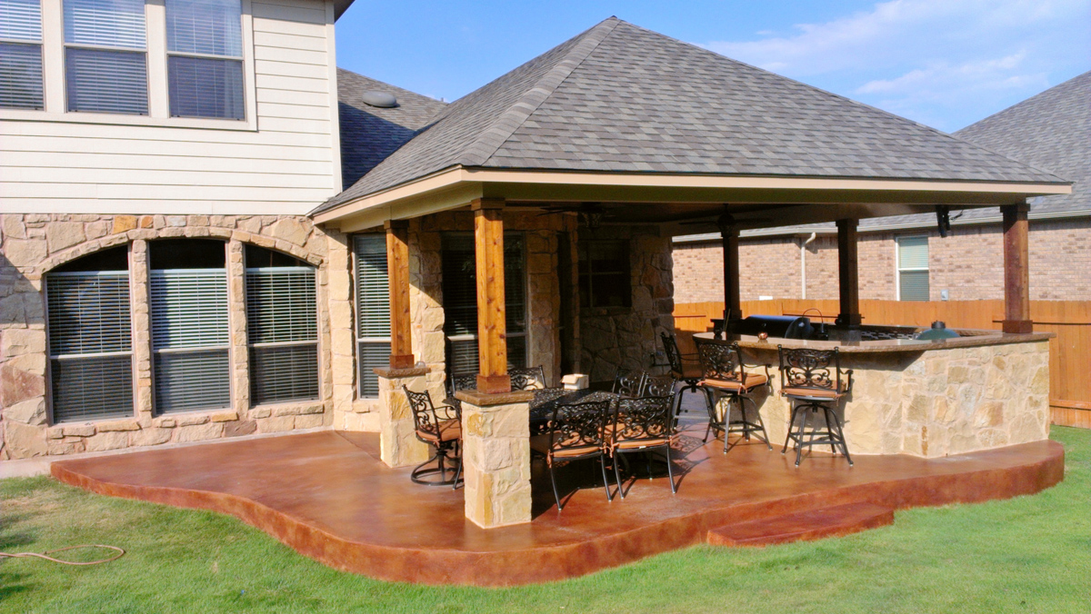 Porch builder salt lake city for Open covered patio ideas