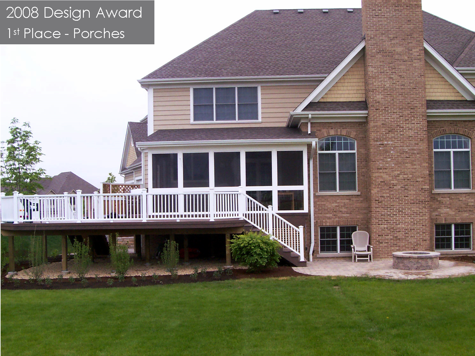 Because Of The Second Story Window Configuration, A Gable Roof Would Cover  These Windows And Would Not Work With The Configuration On The Back Of This  Home