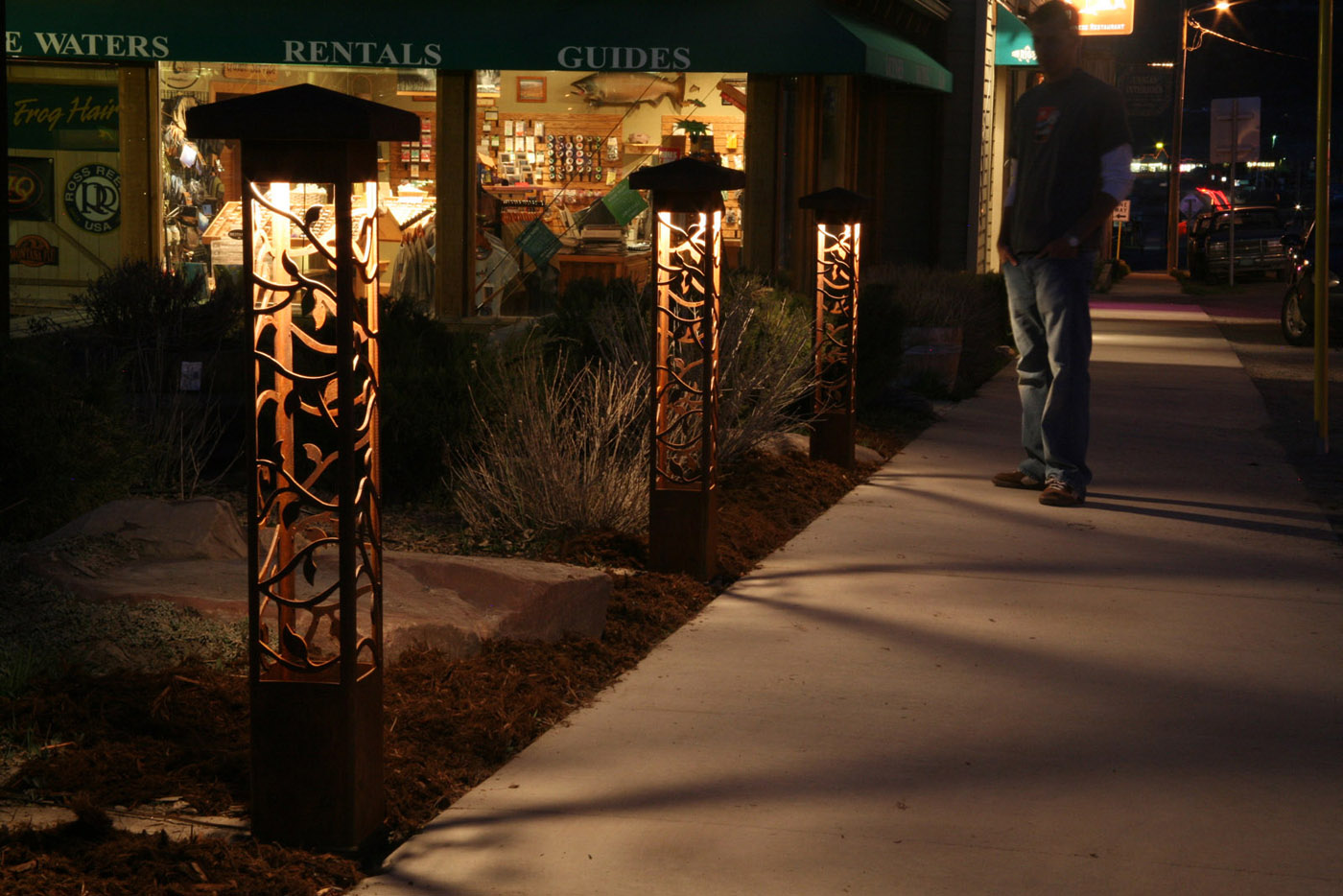 artistic outdoor lighting. with all of the beauty and art you also get top quality outdoor lighting that will meet practical needs for nighttime enjoyment artistic o