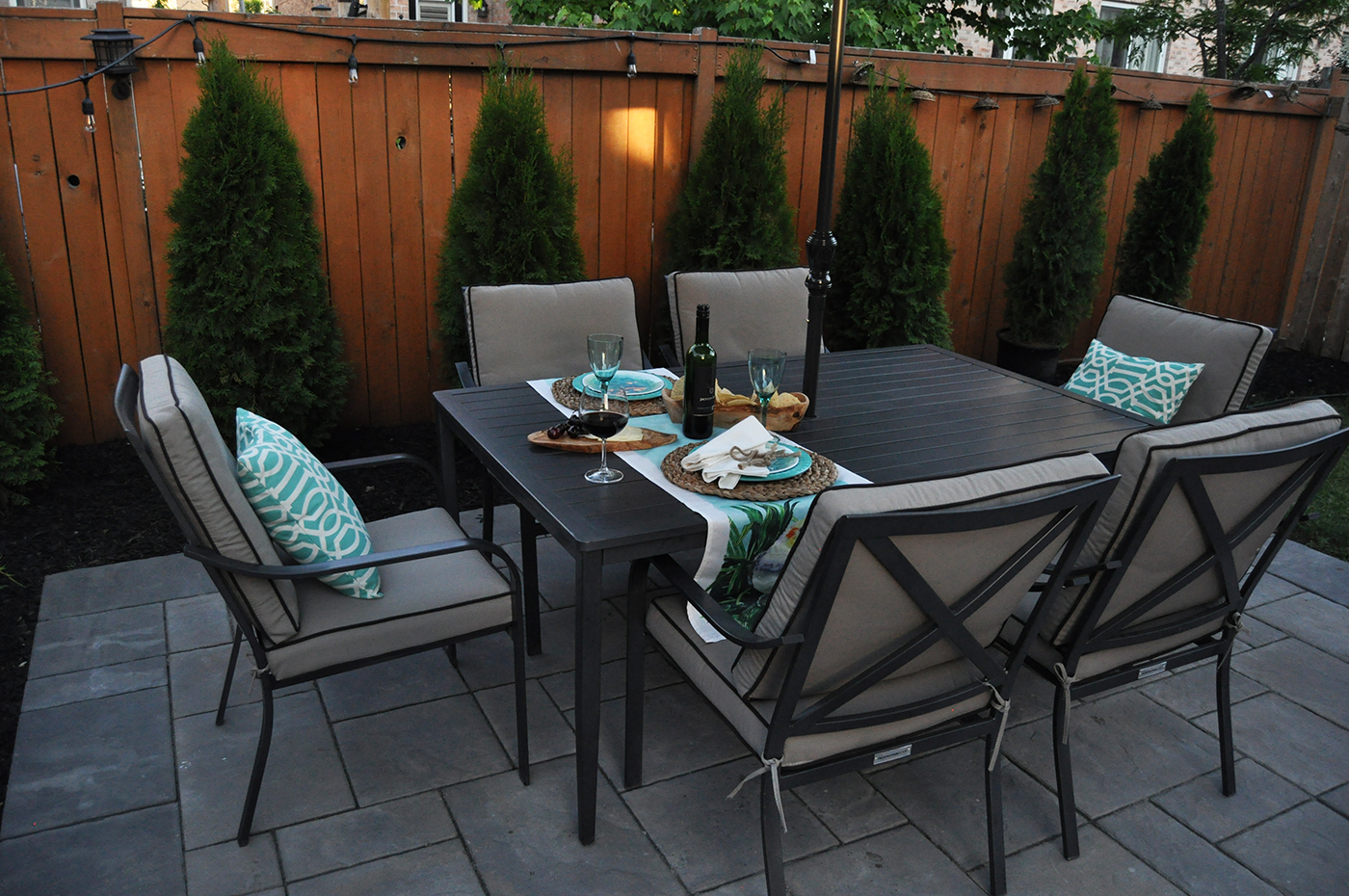 Seating 6, This Eating Area Has A Romantic Cafe Feel With The Private  Setting Of These Bronte Creek Homeownersu0027 Own Backyard. The Patio Stones  Are Designed ...
