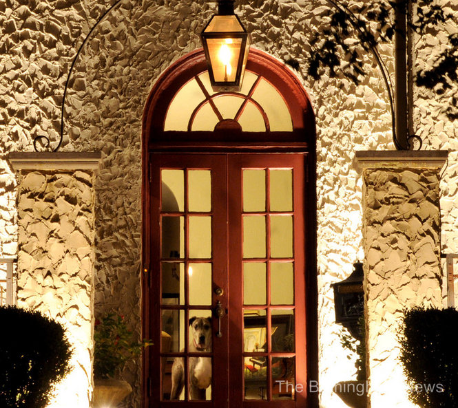 Historic Home Provides Great Architectural Lighting Opportunity. This home was built by US Supreme Court Justice, Hugo Black. The stucco exterior of the house required just enough up-lighting to contrast with the dark night time sky.
