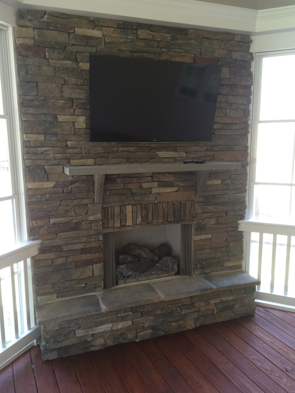 raleigh durham outdoor fireplace builder