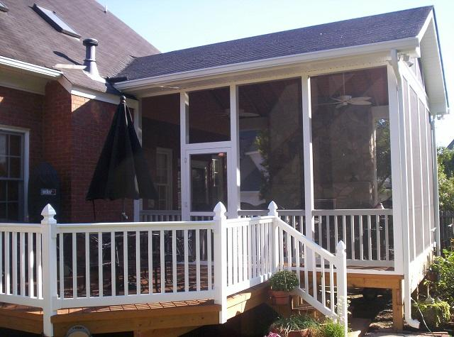 Columbia screened porch and open porch builder for Open porch