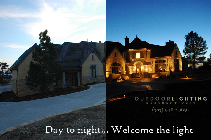 Colorado outdoor lighting before and after