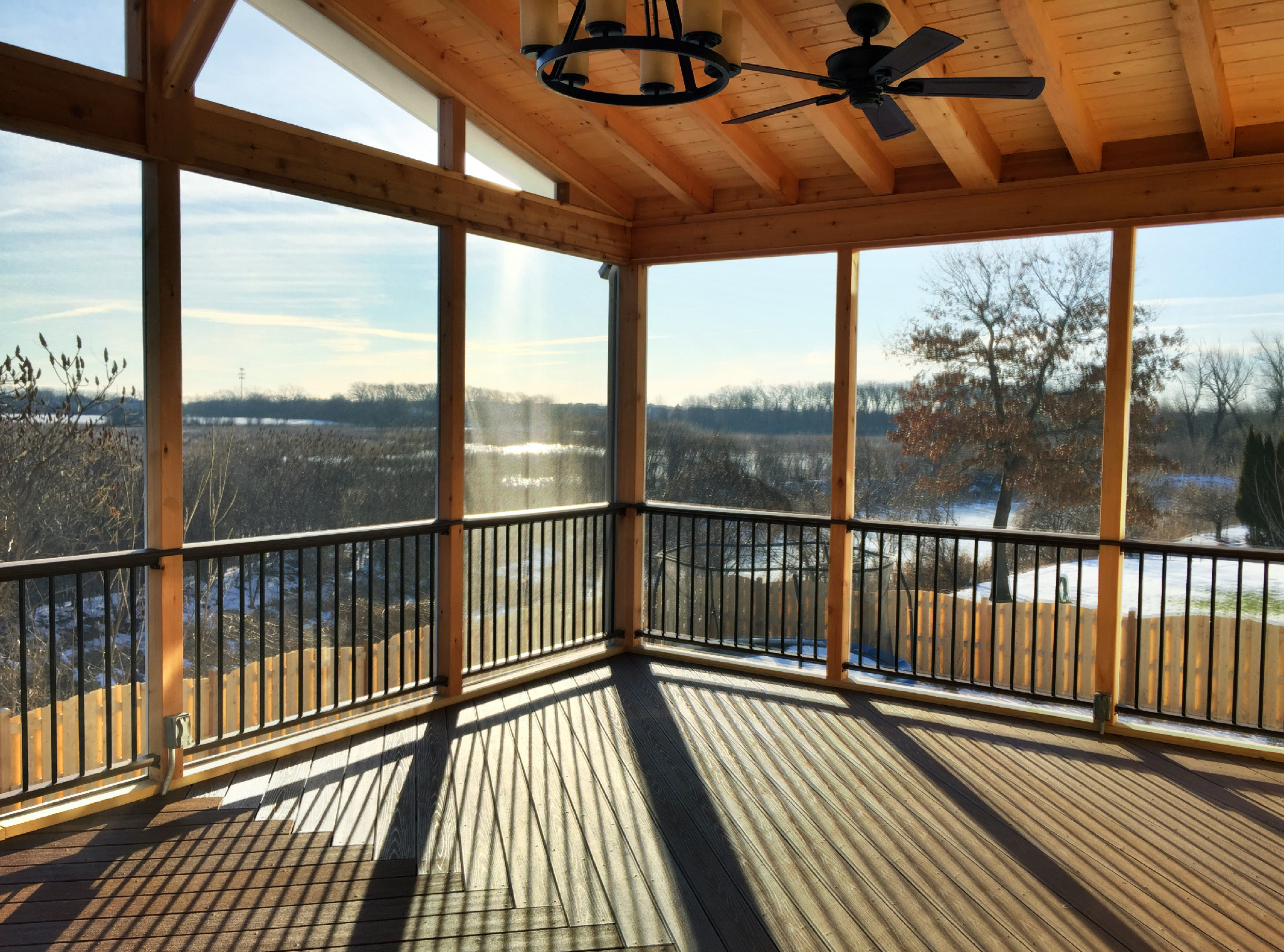 How much does a chicagoland screened porch cost archadeck outdoor living - Screen porch roof set ...