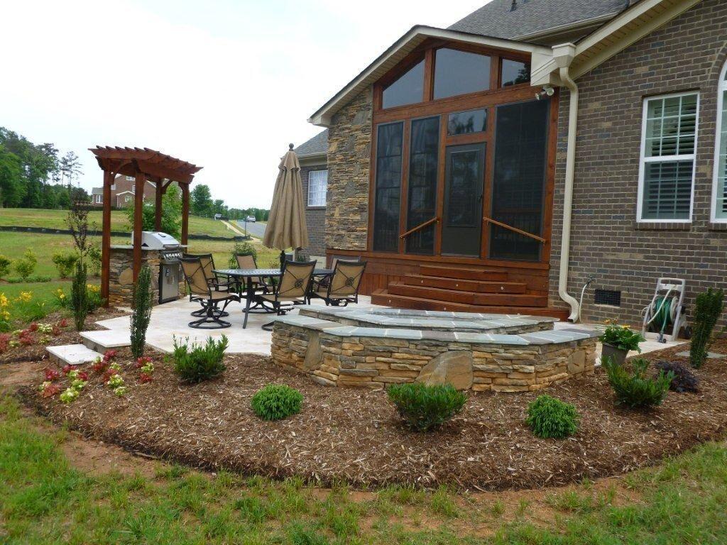 Charlotte deck builder near me porch builder near me for Outdoor kitchen builders near me