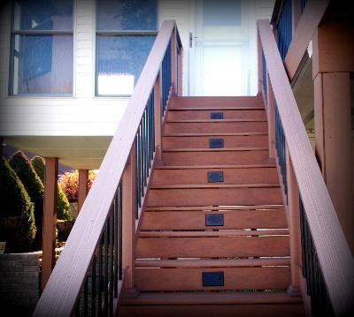 Lighting for decks porches gazebos deck step riser lighting greater st louis area mozeypictures Images