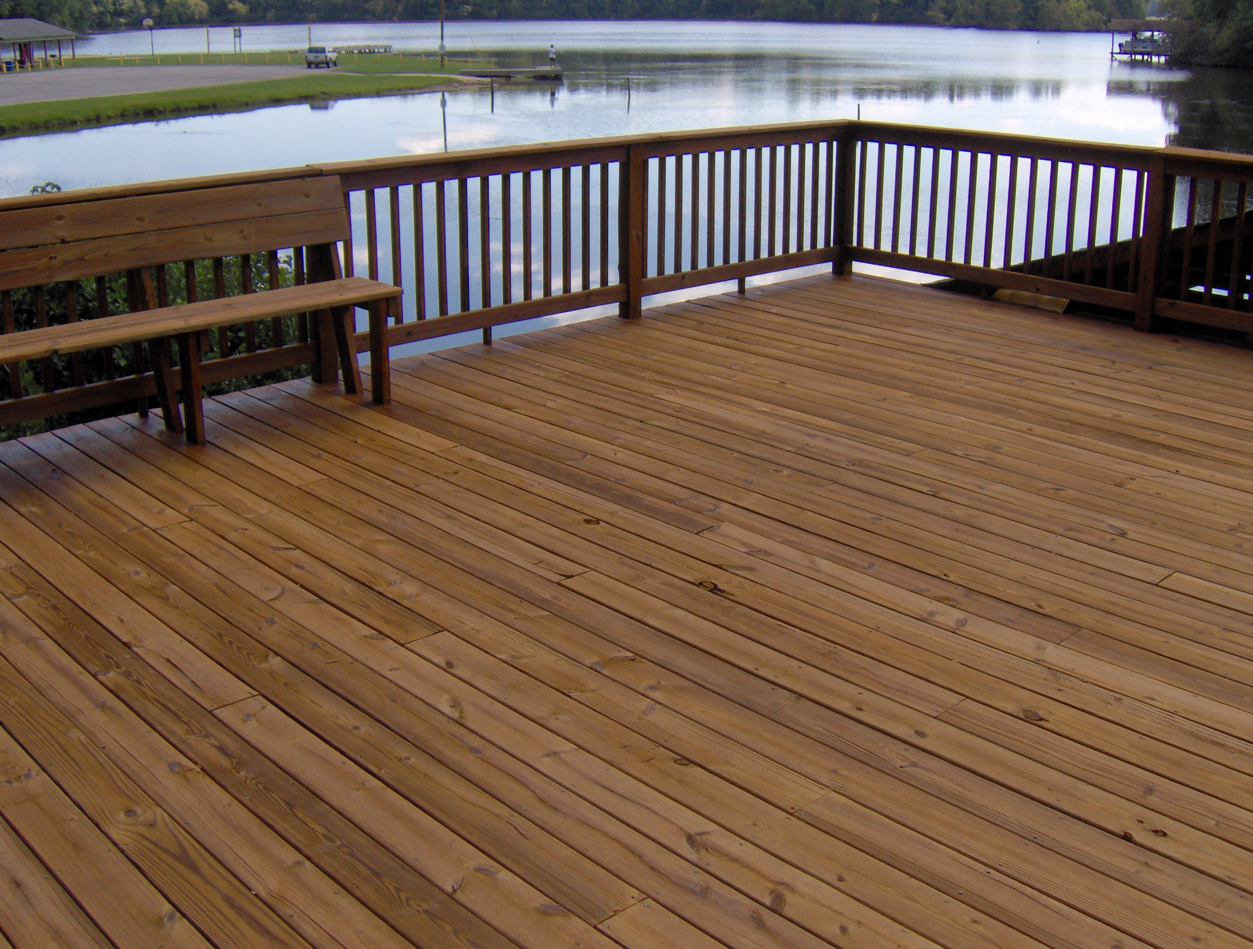 Decks docks renew crew of lake gaston kerr lake and for Best timber for decking