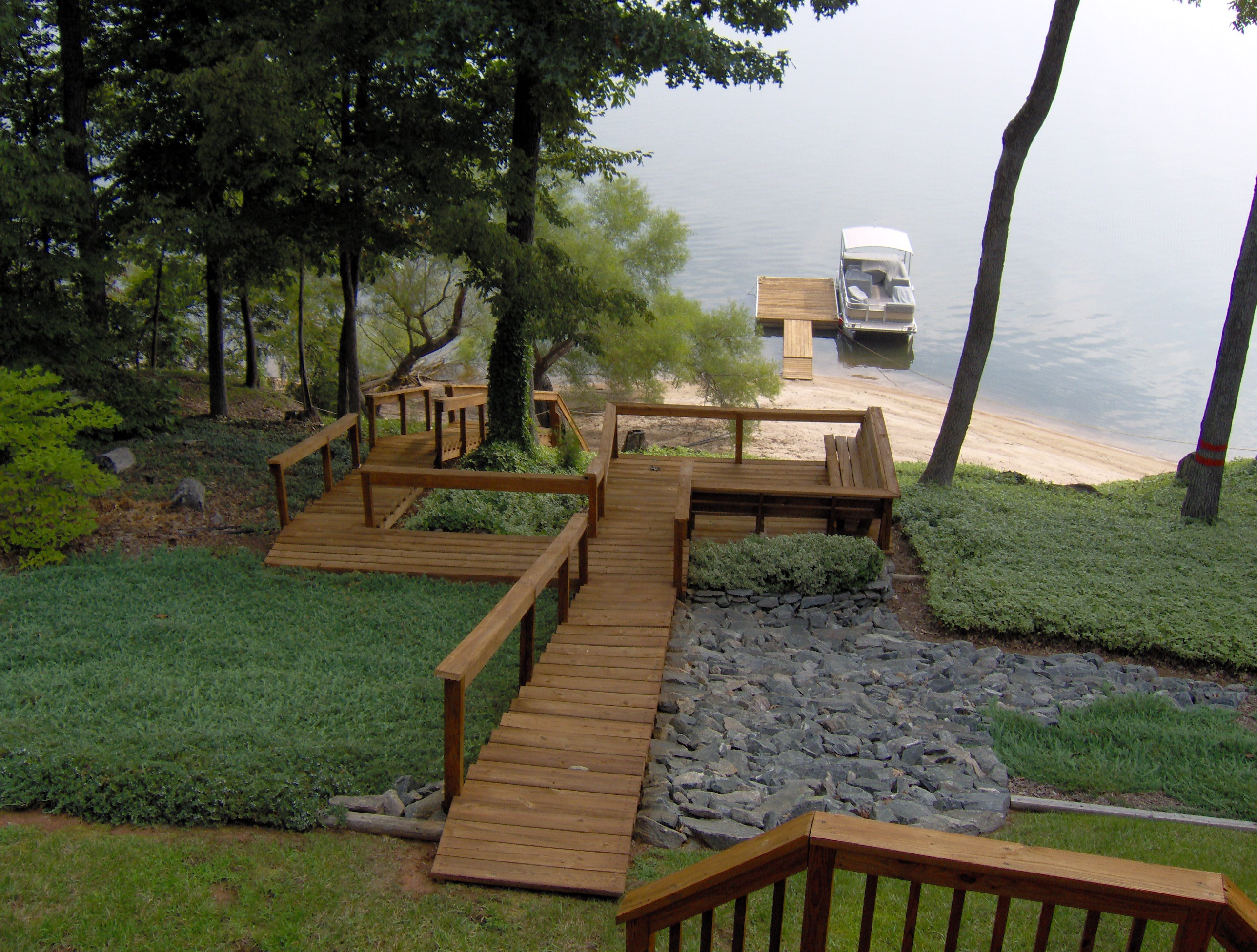 Decks docks renew crew of lake gaston kerr lake and for Patio decks for sale