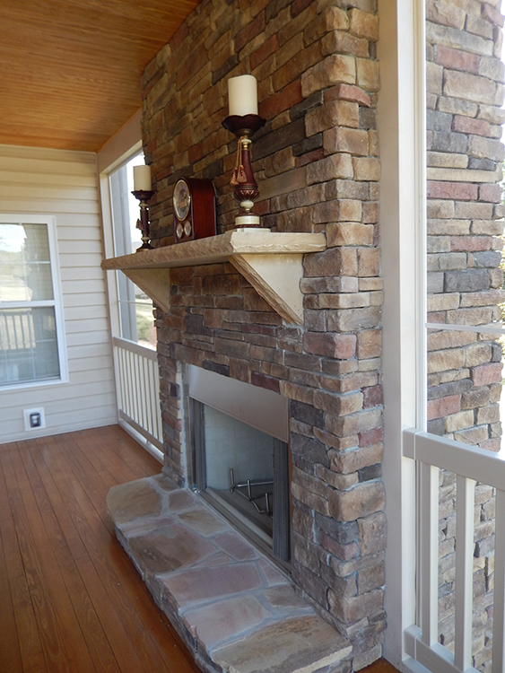 screen porch fireplace. In the photo below  you ll notice not only a high pitched gable roof with screened Owners who choose vaulted can have end or Porch Builder Piedmont Triad Custom Porches