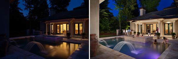 Pool Lighting Before And After : Outdoor lighting for augusta summer nights