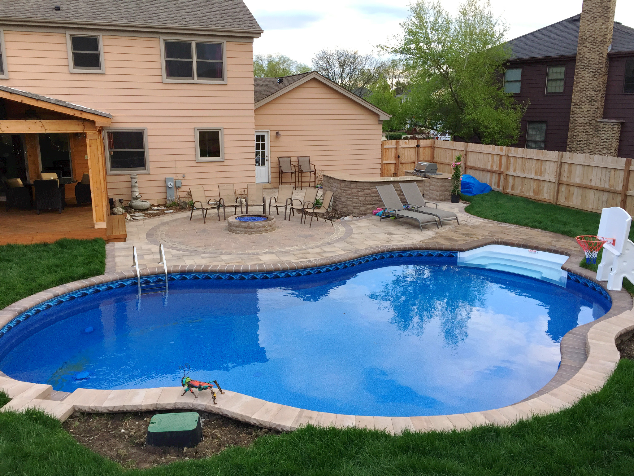 How much does a chicagoland pool deck cost archadeck outdoor living - Pool patio design ...