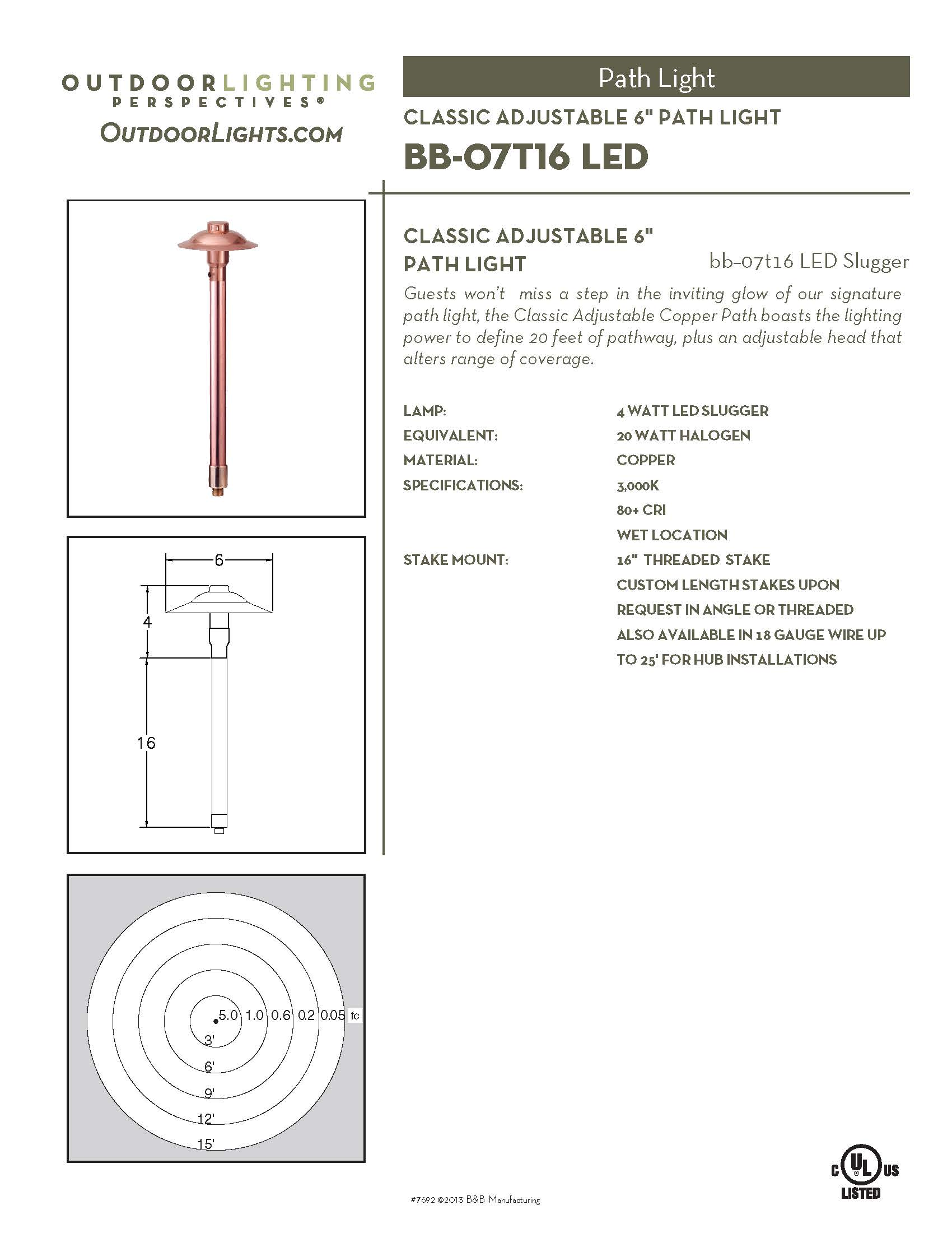 Outdoor lighting company lightscapes southern outdoor lighting - Bb 07t16 Slugger