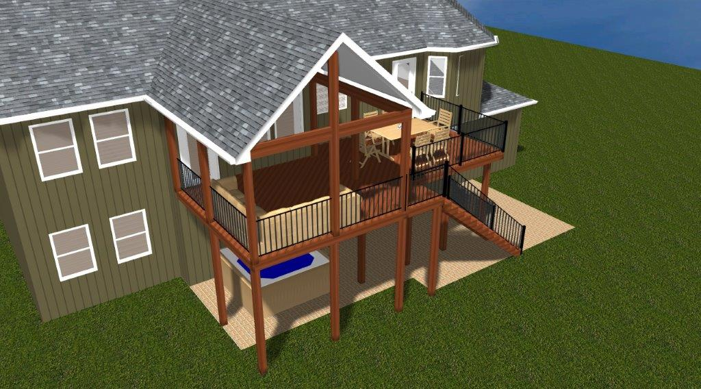 Blog archadeck outdoor living for How to build a 2nd story deck