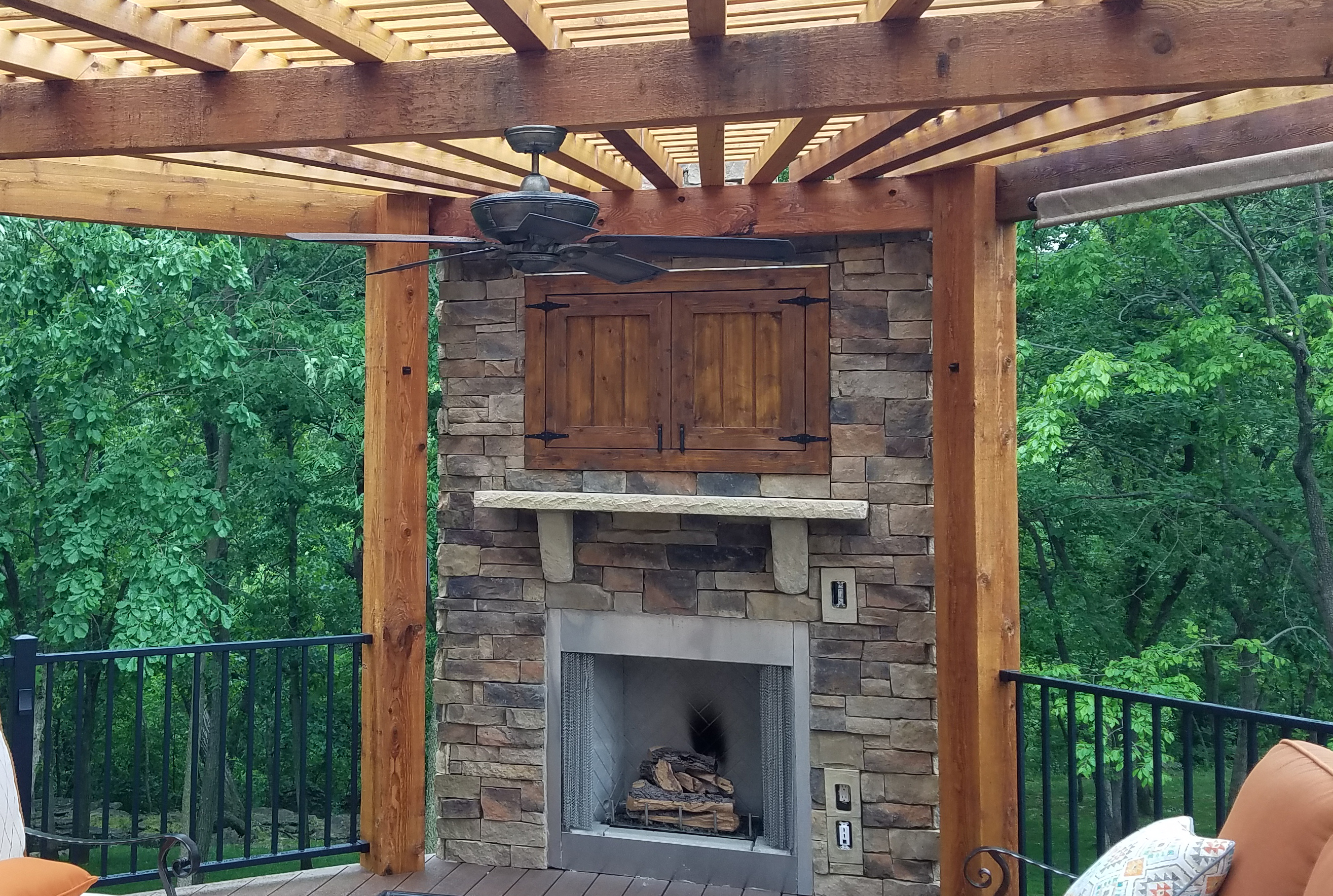 outdoor%20fireplace%20with%20pergola%20in%20Lees%20Summit%20MO Top Result 53 Inspirational Outside Stone Fireplace
