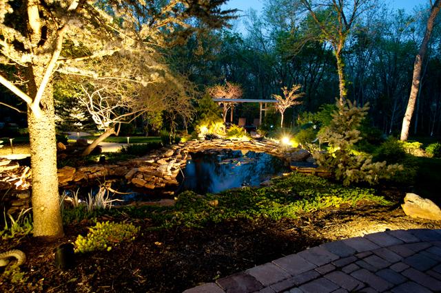 pathway lighting area lighting flower bed