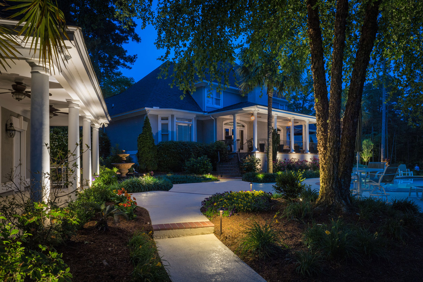 Landscape lighting highlights your spring remodeling and unlike other companies outdoor lighting is all we do we are not about just fixtures we are about the design and effect our landscape lighting delivers aloadofball Choice Image