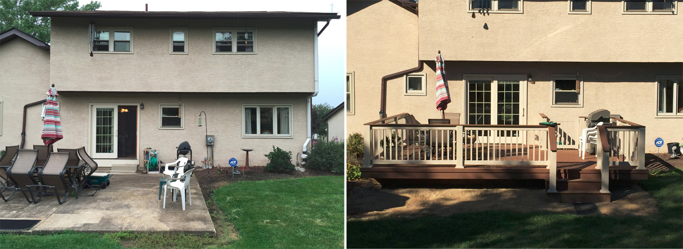 Not Surprisingly, This Bad Experience With A Concrete Slab Encouraged Them  To Seek Out Better, More Durable Options For Their New Gahanna Deck.