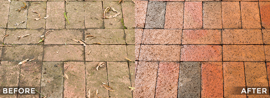 Brick Cleaning and Protecting Before and After