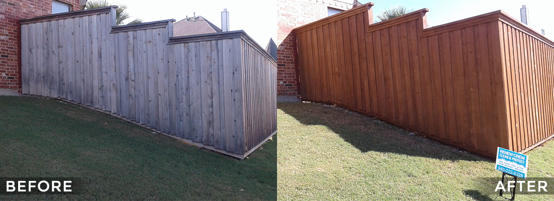 Fence Cleaning and Protecting Before and After