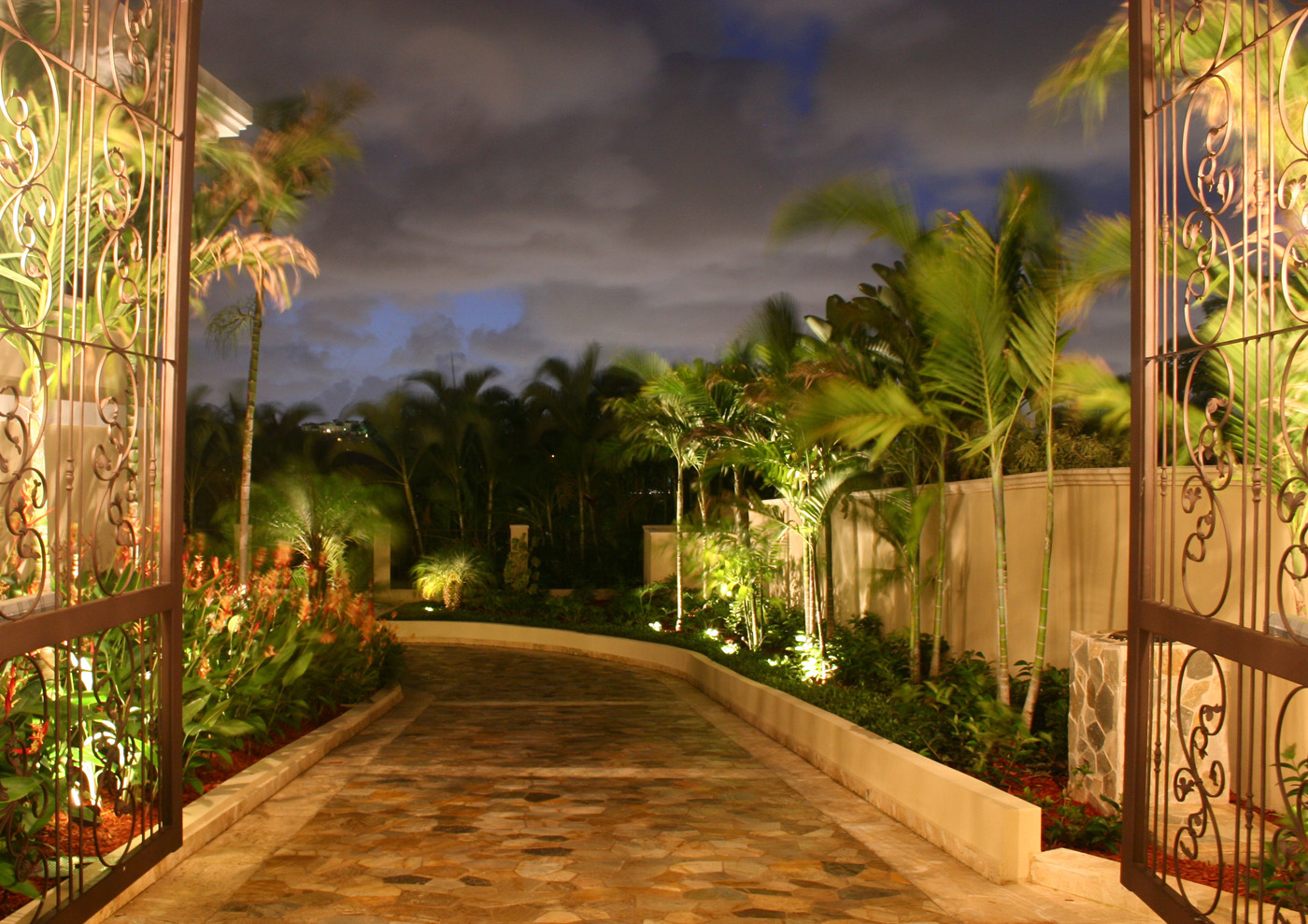 tropical outdoor lighting. bonita springs outdoor lighting for your entry u0026 driveway tropical