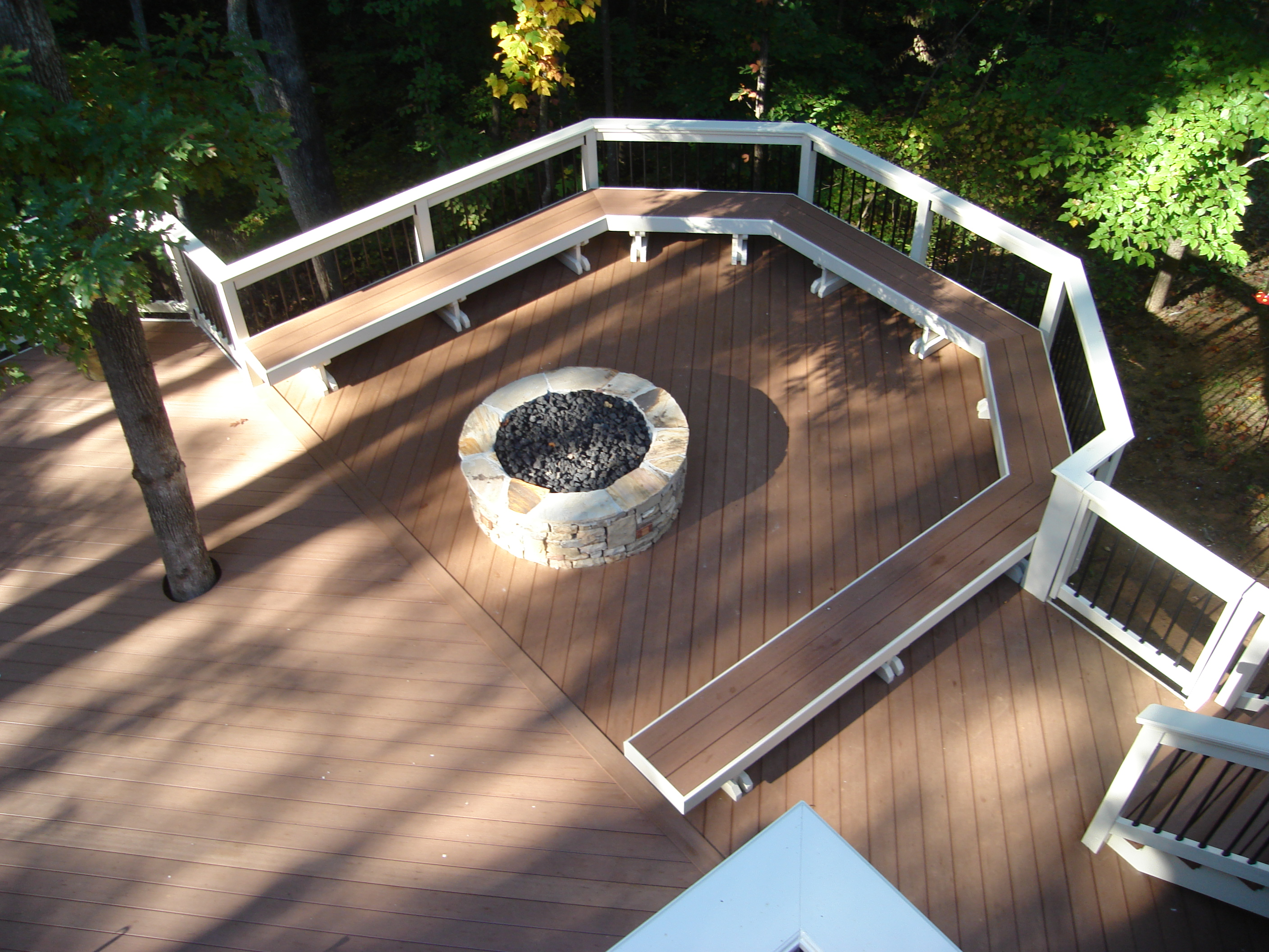 how to build outdoor fire pit on a deck