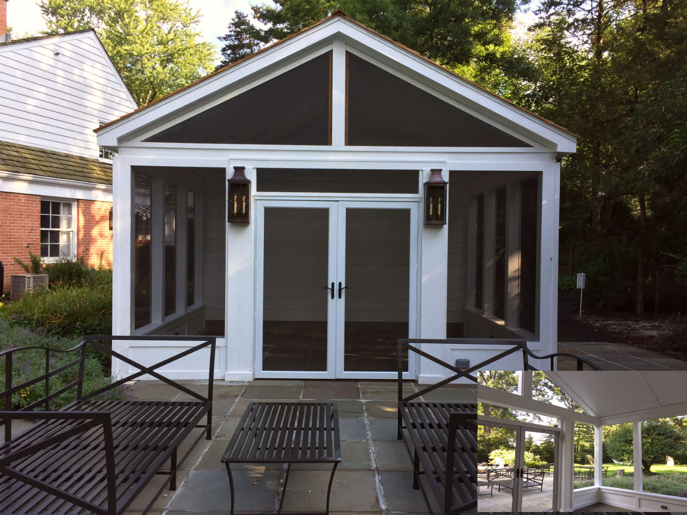 Unique Pool House Screened Porch by Winnketka, IL Screened Porch Builder Thumbnail