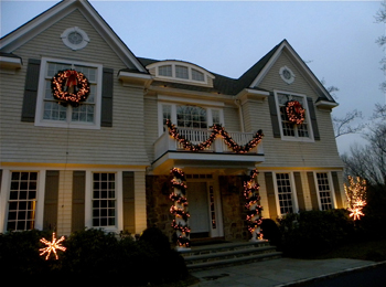 Holiday Outdoor Lighting in Pittsburgh PA. Outdoor Wreath With Led Lights. Home Design Ideas