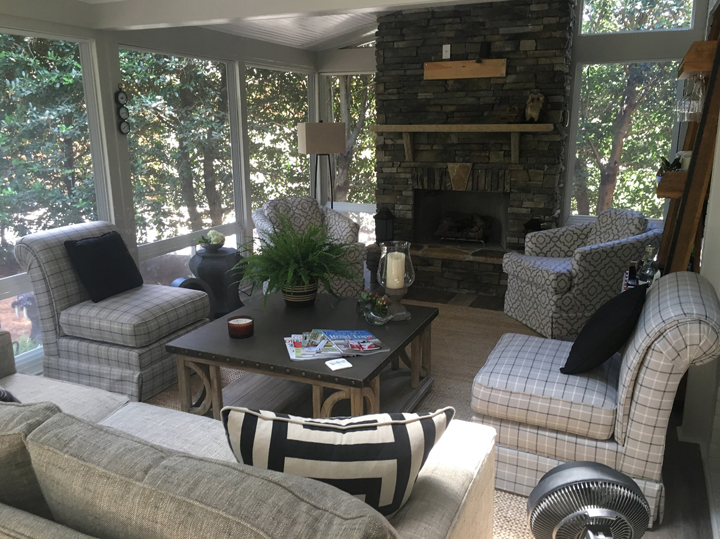 How much would it cost to integrate an outdoor fireplace into my screen  porch or covered patio? - Blog Archadeck Outdoor Living