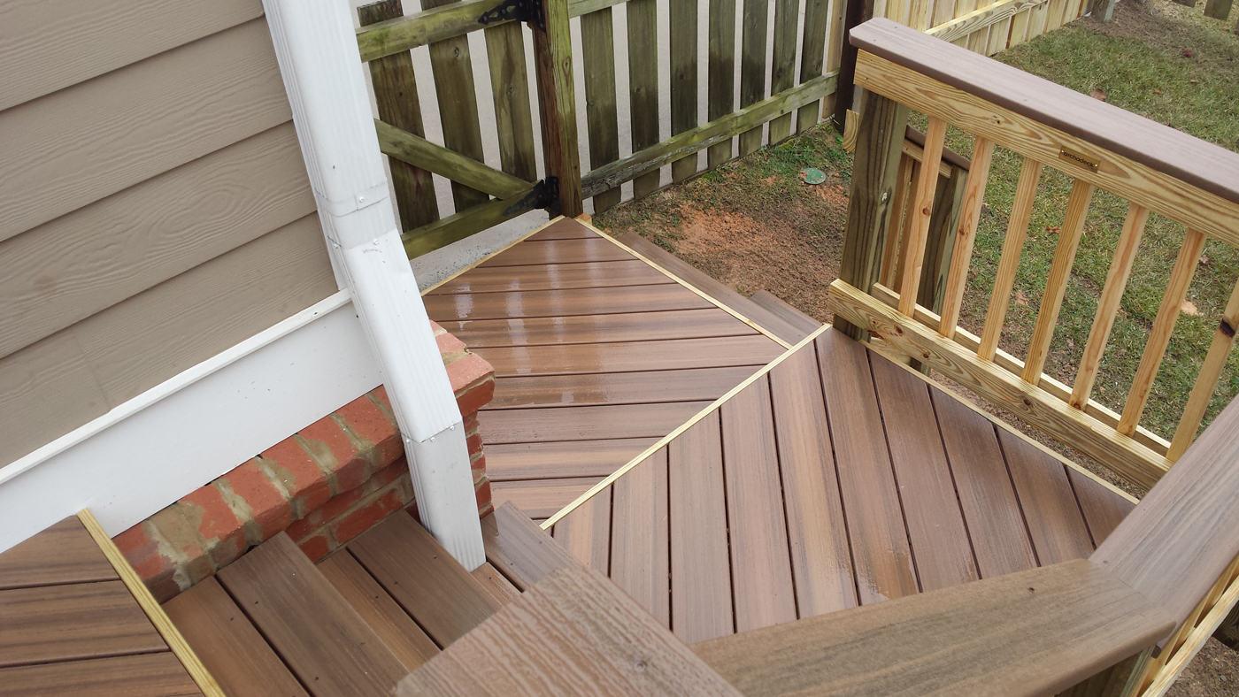 Types of composite and synthetic decking materials for for Best composite decking material
