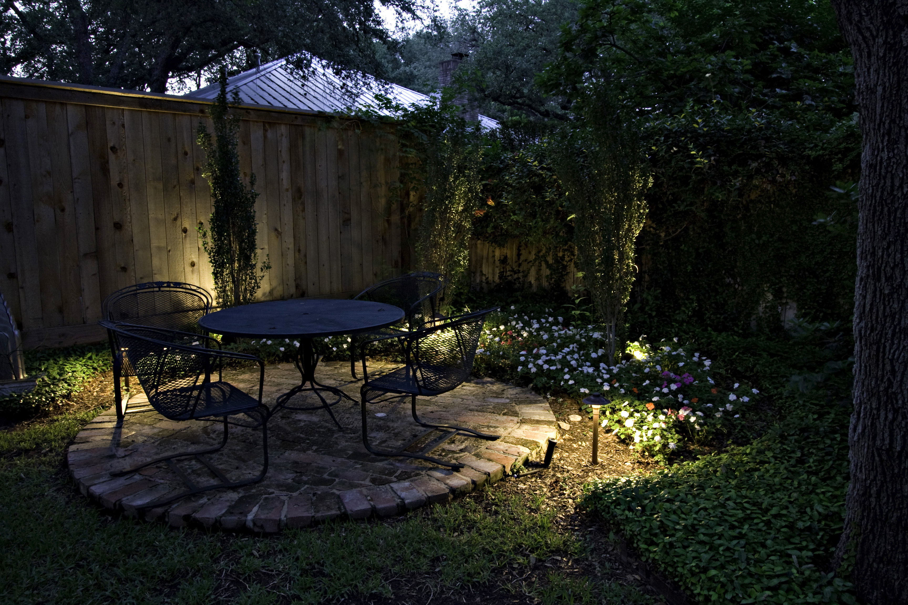 less is more in seattle landscape lighting design