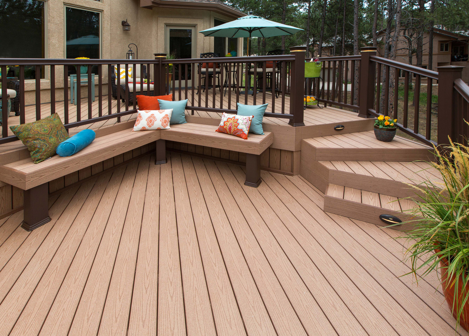 Timbertech vs azek the leading manufacturers of low for Vinyl decking material