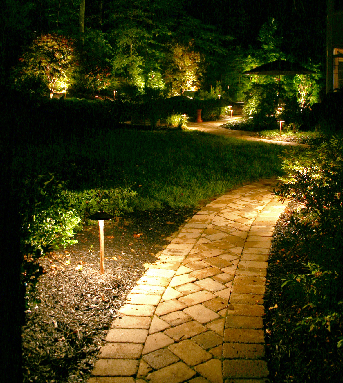Path LightingWilmington Landscape Lighting for Elegant Outdoor Living. Residential Outdoor Landscape Lighting. Home Design Ideas