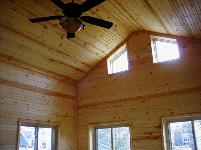 Tongue And Groove Pine Is Very Popular On Screened Porches. With Enclosed  Rafters, This Sunroom Has A Little Bit More Of A Formal Feel.