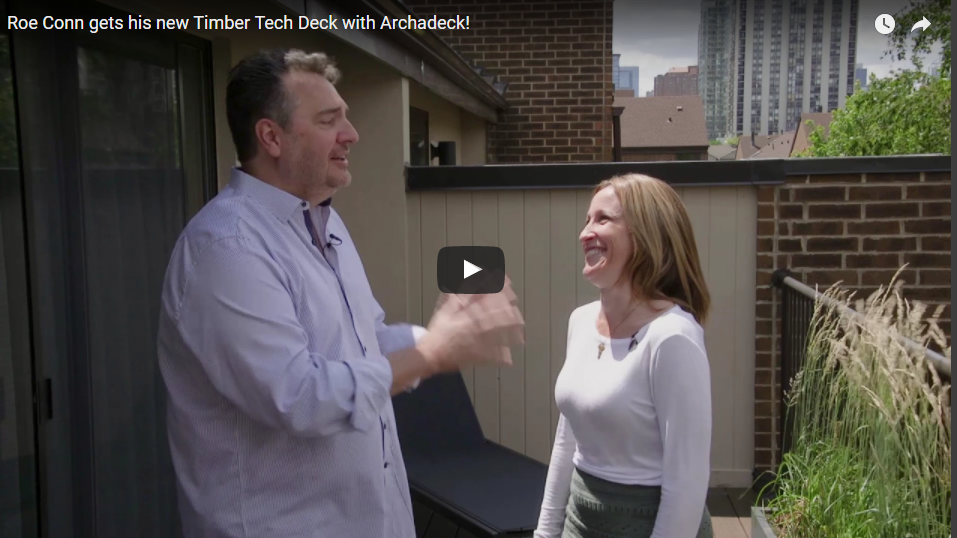 Check out WGN Radio Personality Roe Conn's new Timber Tech Deck Built by Archadeck Thumbnail