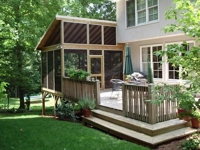 Porch Builder Piedmont Triad Custom Porches: shed with screened porch