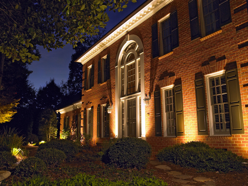 Outdoor Lighting that accents the beauty of your home by Outdoor Lighting Perspectives DC Metro