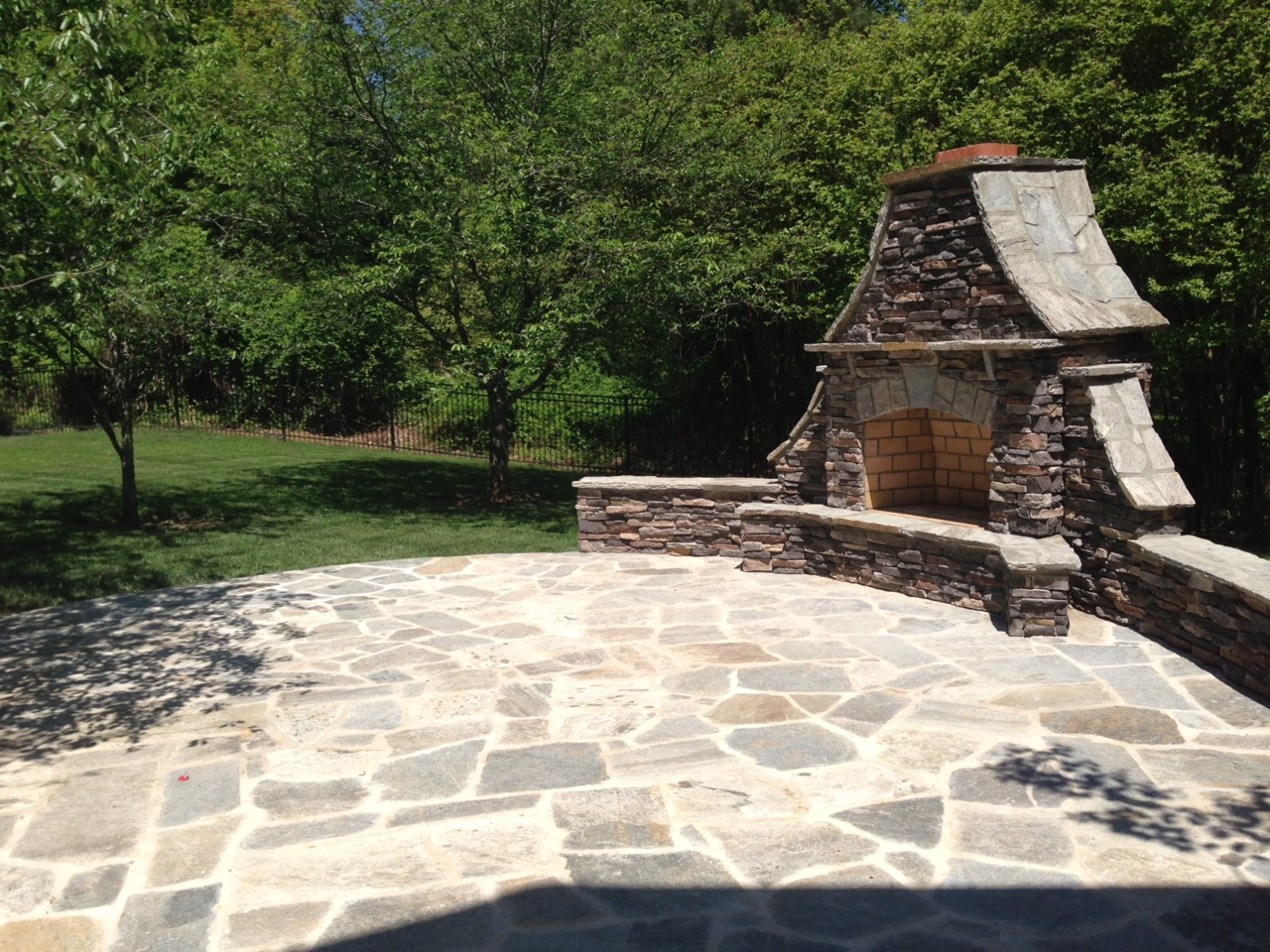 how much use can you get out of an outdoor fireplace in charlotte - Outdoor Patios With Fireplaces