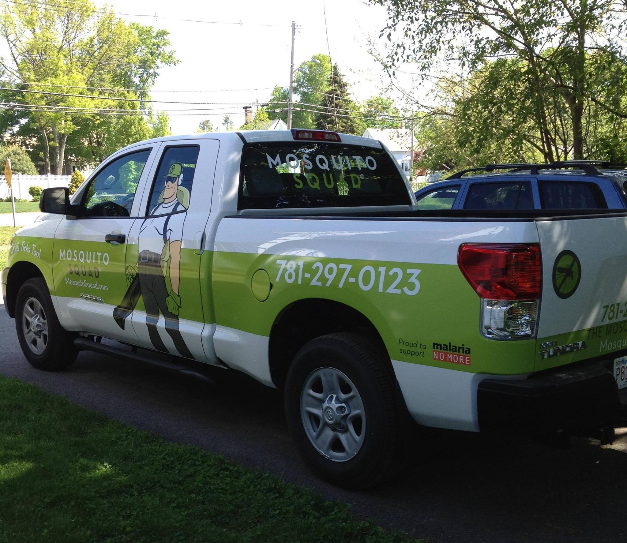 Mosquito Squad Truck - Call Today at 781-29-0123