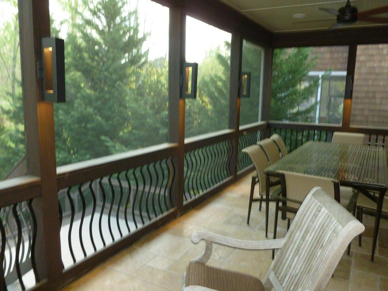 railing design options - Outdoor Screened Porches