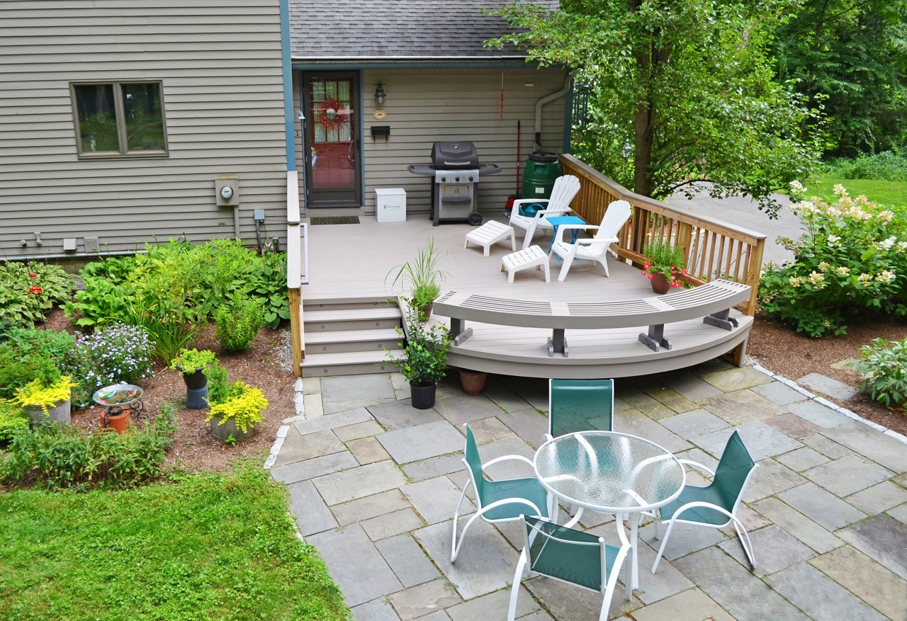 Raleigh composite deck builder using timbertech and azek for Cost of composite decking vs pressure treated