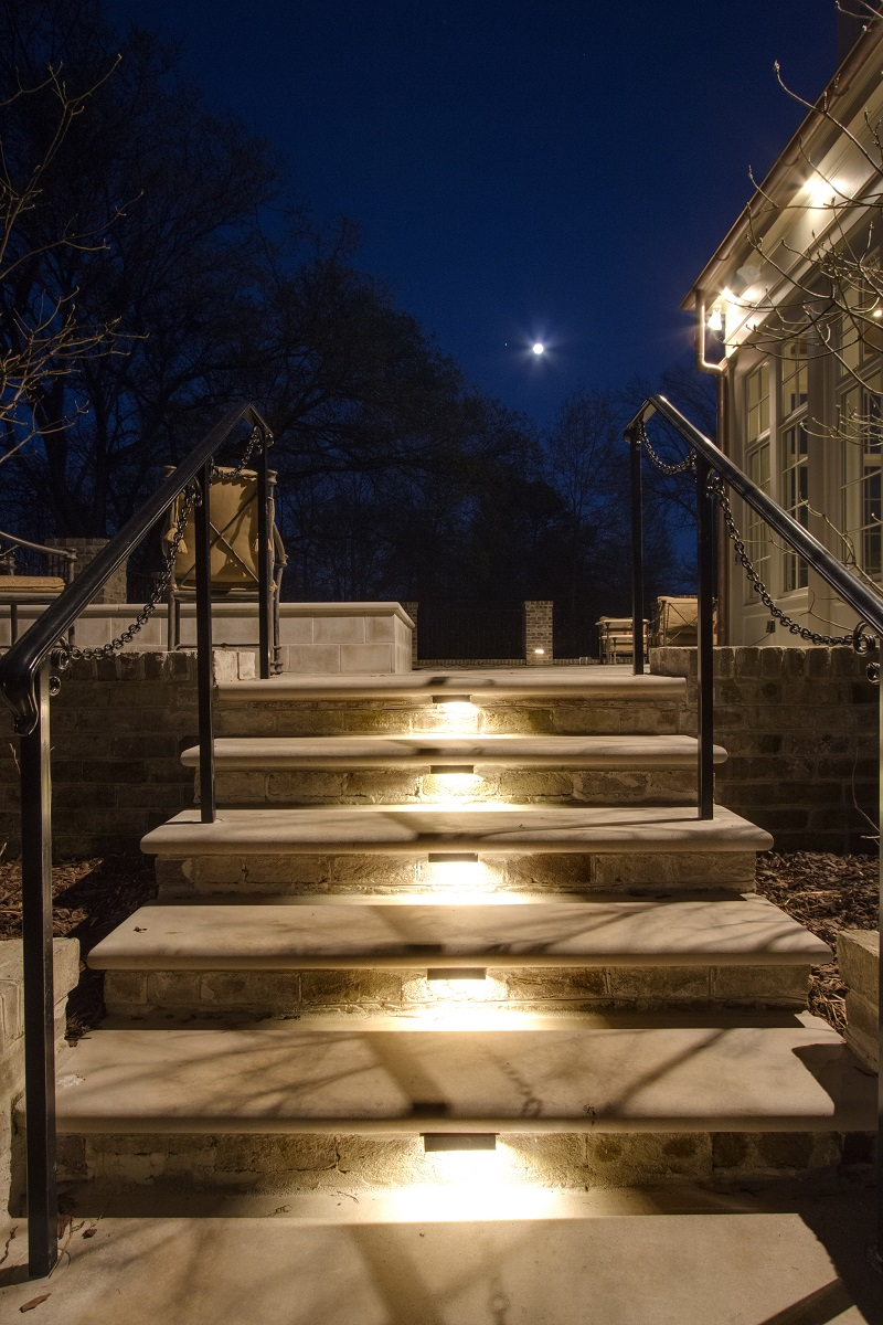louisville outdoor steps stairs and hills landscape lighting adds