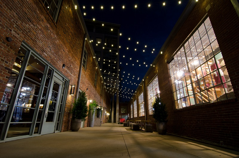 Festoon Lighting In The Gulch By Outdoor Lighting Perspectives Of Nashville