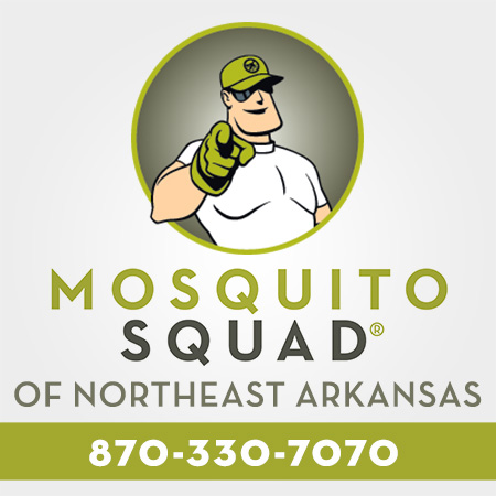 Mosquito Squad of Northeast Arkansas, call at 870-330-7070