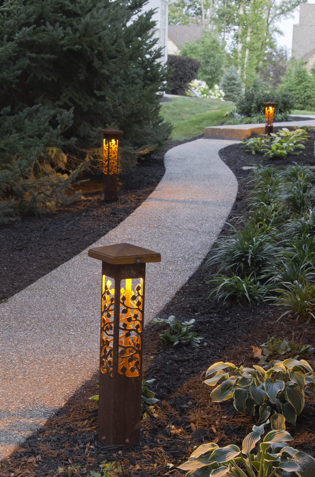 louisville decorative outdoor lighting adds mystique and charm to your design t